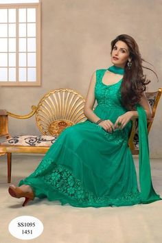 Buy Online Anarkali Sky Blue Drees Materila Untetchd Suit at Discount - Coupon Code Best Prices, Free Shipping, Fashion Trend India 2016