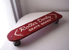 vintage roller derby skateboard.