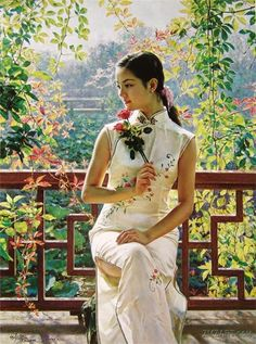 Beautiful Oil Painting by Chinese Artist Guan ZeJu