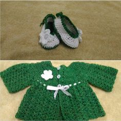 Completed a baby cardigan and booties.  Shakila Banu
