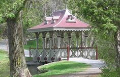 Pagoda Bridge in Jackson Park, Peterborough, Ontario Peterborough Canada, Places Ive Been, Places To Go, Gazebo, Pergola, Beautiful Places In The World, Stuff To Do, Outdoor Structures, Explore