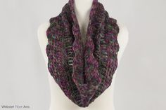 Dark Side of Gray Handmade Cowl. Hand Dyed by WebsterFiberArts