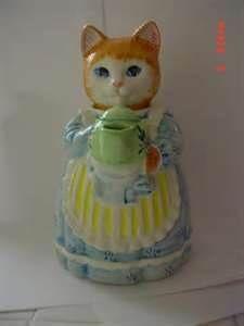 Image detail for -avon collectibe cat figurine ceramic teapot