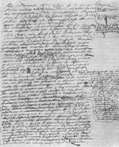 Leo Tolstoy's handwritten notes for War & Peace