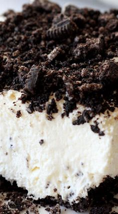 Kansas City Dirt Cake.... cream cheese, instant pudding, cool whip and oreos