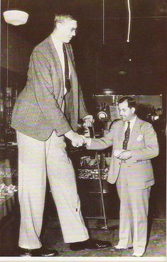 """February 22: Birthday of American Robert Wadlow, the tallest recorded person in history, who reached 8'11.1"""" in height. Links to a collection of photos and other biographical information."""