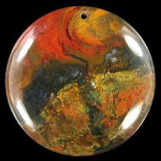 Flame Jasper Pendant bead BM004072