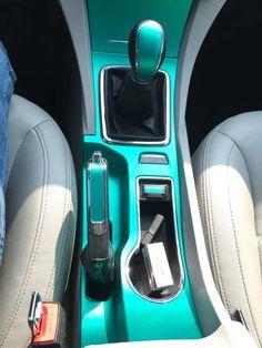 DIY car center console. Tiffany blue vinyl wrap $15 20''x60''.