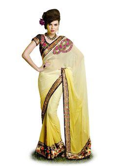 New Designer Partywear Indian Sari Ethnic Bollywood Wedding Pakistani Saree SC…