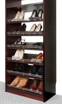 Shoe Racks And Organizers | Closet Organizers Shoe Rack With Fence By Solid Wood  Closets