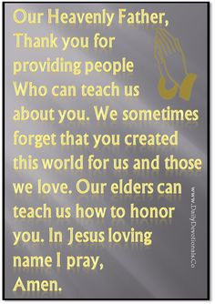 Learning From Our Elders - Saturday's Dose - 9th February 2013 ~ Daily Devotionals