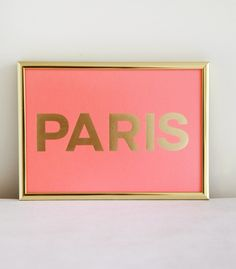 MadeByGirl: PARIS Coral Gold