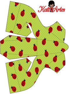Ladybugs Free Printable Paper Shoes. - Is it for PARTIES? Is it FREE? Is it CUTE? Has QUALITY? It´s HERE! Oh My Fiesta!