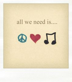 all you need is....