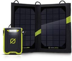 This weatherproof recharger kit comes with a solar panel to power up your portable electronic devices using the sun's energy or any USB port. Its light, compact design is perfect for all your backpacking adventures.