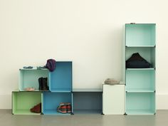 'kontur' by fritz und franken is a modular storage system capable of being integrated within the context of residential lounge areas and office workspaces. Modular Shelving, Modular Storage, Joy Of Living, Living Room, Office Workspace, Lounge Areas, Home Automation, Design Your Own, Small Spaces