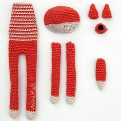 Polina Kuts: МК Лиса вязанная крючком. Crochet fox