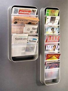 Redondo wall magazine rack. Very modern. love.