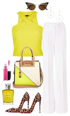 Untitled #735 by styledbyhkc on Polyvore featuring polyvore ファッション style River Island Diane Von Furstenberg Christian Louboutin Lipsy Dsquared2 MAC Cosmetics Christian Dior fashion clothing