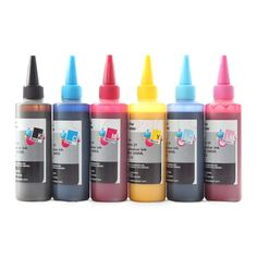 Dye Sublimation Refill Ink Set for Epson Printers Heat Transfer CISS (6 x 100ml)