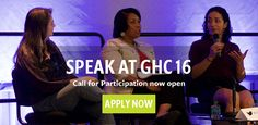 Want to be a #speaker or #sponsor at the Anita Borg Institute's Grace Hopper Conference in #Houston on Oct. 19th - 21st? Apply by March 30th to speak. #GHC2016