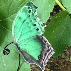 Green Mother of Pearl Butterfly Ear Cuff by NightLilyDesign, $12.00