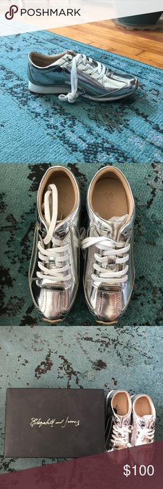 Elizabeth and James Metallic Sneakers, Never Worn Fun Elizabeth and James sneakers for Fall! Never Worn, comes with white and black laces Elizabeth and James Shoes Sneakers