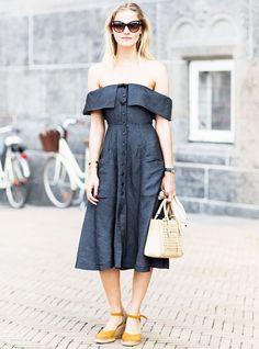 look-street-style-vestido-ombro-fora