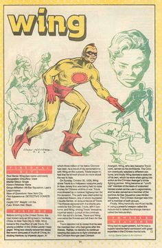 """Wing """"Who's Who"""" entry by Gene Colan"""