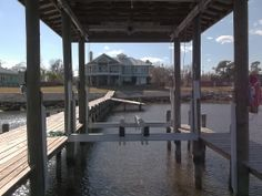 Excell Boat Lifts & Boat Houses Aluminum Lower Cradle Assembly — at La Porte, Texas.