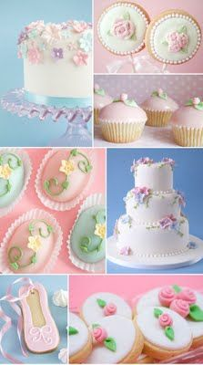 Rosebud fondant flowers- if I get a granddaughter on the way someday!