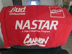 NASTAR SKI Magazine Banner BUD beer Racing Challenge Coca Cola Double Sided