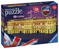 Ravensburger Buckingham Palace Light-Up Puzzle , Palais De Buckingham, Buckingham Palace London, Jigsaw Puzzles For Kids, 100 Piece Puzzles, Big Ben London, London Night, London Bus, Tour Eiffel, Chateau Disney