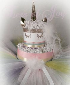 Unicorn diaper cake unicorn dress girls baby shower item pink tutu skirt mommy and me dress Unicorn DIAPER CAKE w/ golden unicorn cake topper Baby Shower Items, Baby Shower Diapers, Baby Shower Gifts, Pink Diaper Cakes, Nappy Cakes, Unicorn Dress Girls, Unicorn Head, Pink Tutu Skirt, Mommy And Me Dresses