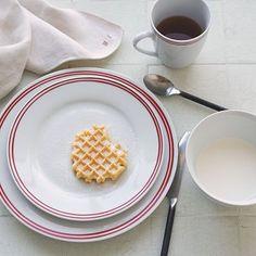 Market Stripe Dinnerware Set from West Elm = my dream every-day dinnerware