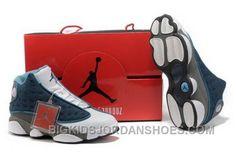 timeless design 3ec22 3a87a Hot Shopping Online Discount Air Jordan 13 Xiii Retro Mens Shoes For Sale  Blue White 2016 New, Price   95.00 - Big Kids Jordan Shoes - Kids Jordan  Shoes ...