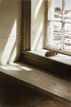 White Pine-Interior window, white pine cone, & exterior scenebyMichaelDumas