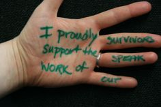 """I proudly support the work of Survivors Speak OUT""  A message of solidarity to survivors of torture from a Freedom from Torture supporter  http://www.freedomfromtorture.org/feature/survivors_speak_out/5993"