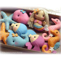 Las sirenas con bajo el mar amigos cotillón hecho por GiftsDefine