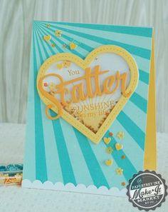 You Scatter Sunshine Card by Betsy Veldman for Papertrey Ink (April 2014)