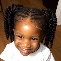 Toddlers & Kids hair braiding styles. Havana Mambo Twists styles for kids.