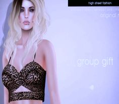 Second Life Freebies and more: Cross Bralet Freebie