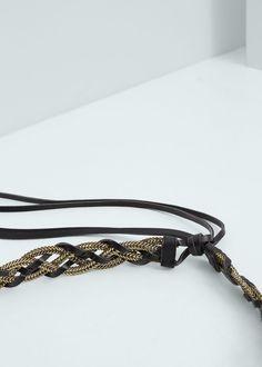 Cinturón trenzado cadena - Cinturones de Mujer  60d8637a8562