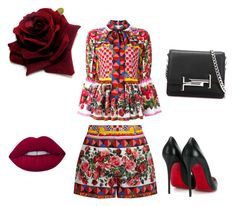 """""""Untitled #9"""" by nadia-sonik on Polyvore featuring Dolce&Gabbana, Christian Louboutin, Lime Crime and Tod's"""