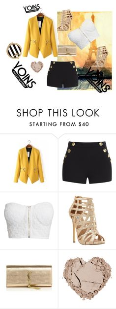 """""""have fun with yoins"""" by samra-alic ❤ liked on Polyvore featuring Boutique Moschino, NLY Trend, Steve Madden, Yves Saint Laurent, Henri Bendel, women's clothing, women, female, woman and misses"""