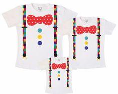 Kit Camisetas Fantasia palhaço