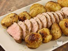 Muschiulet de porc cu cartofi noi la cuptor Romanian Food, Love Food, Sausage, Sweets, Meat, Cooking, Recipes, Food Ideas, Foods