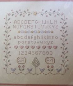 Sampler Counted Bead Embroidery with Counted Cross Stitch Kit 101 MPR Vtg. Crewel Embroidery, Beaded Embroidery, Cover Pics, Sewing Basics, Cross Stitch Kits, Counting, Bullet Journal, Stamp, Beads