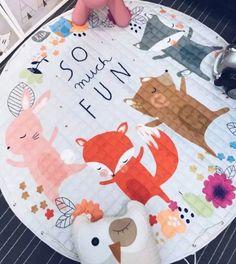 Reversible Animal friends baby mat