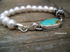 Joyería artesanal pulseras de perlas Pulseras por SimpleeSilver
